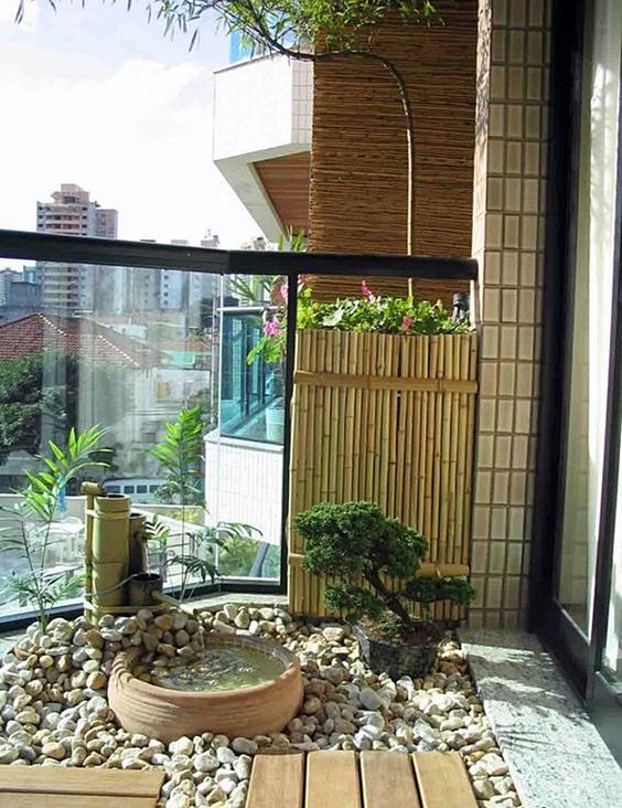 Japanese style condo balcony gardening