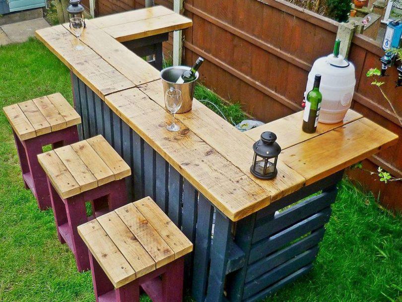 Diy bench backyard