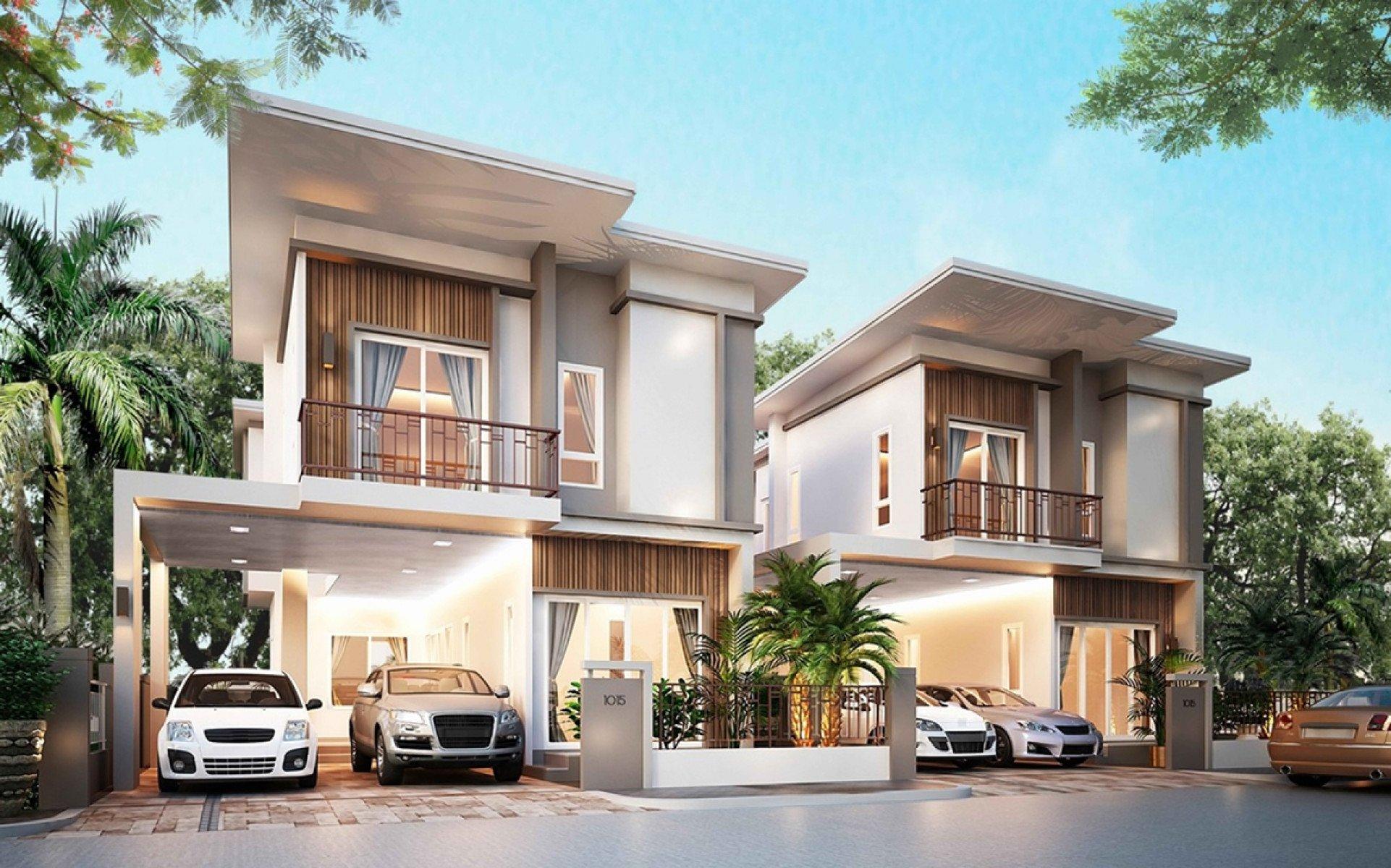 2-storey twin house free